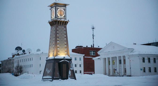 Дудинка је најсевернији град Евроазије. Основана је у 17. веку. Статус града стекла је 1951, свој савремени изглед добила је 1960-их.