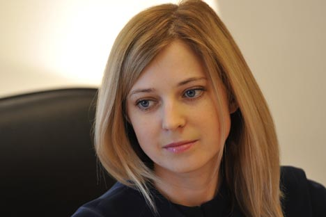 Врховни савет Крима је 11. марта 2014. именовао за државног тужиоца Републике Крим тридесеттрогодишњу Наталију Поклонску. Извор: ИТАР-ТАСС.