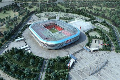 """Отварање """"Спартаковог"""" стадиона је планирано за 24. јул Извор: spartak.com."""