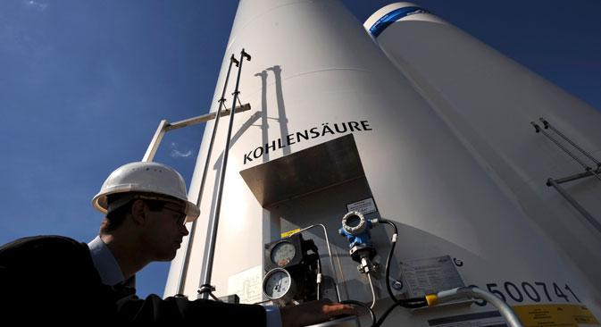 """Због конфликта са руским холдингом украјинске власти поново купују гас од немачке компаније """"RWE Supply & Trading"""".  Извор: AP."""