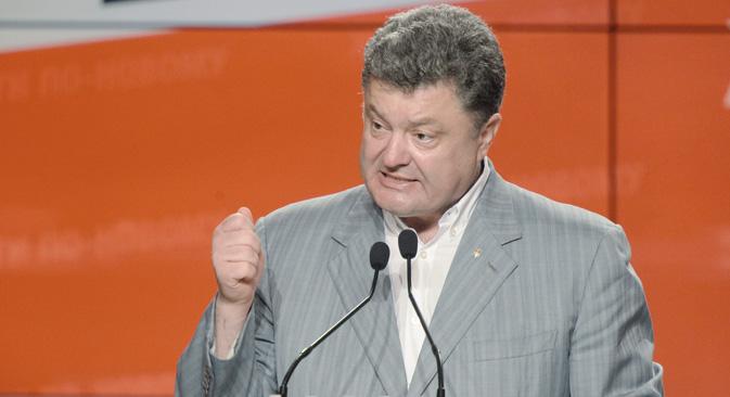 """Петар Порошенко: """"Где сте видели [насилно преузимање власти]?"""". Извор: РИА """"Новости""""."""