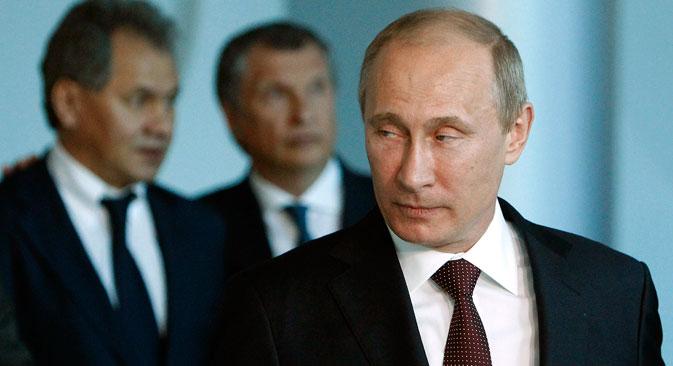 По мишљењу руског шефа државе, проширивање и пооштравање санкција Русији тесно је повезано са покушајима Запада да пронађе кривца за украјинску кризу. Извор: Reuters.