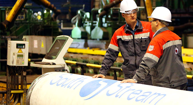 """Транспорт аустријског гаса из Црног мора гасоводом """"Јужни ток"""" је најјефтинија и најприступачнија варијанта. Извор: Reuters."""