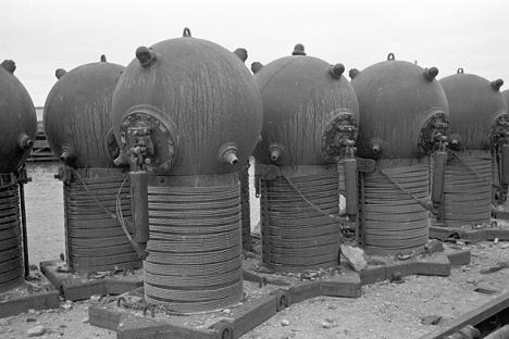 """Предратна сидрена мина са механичким упаљачем. Извор: РИА """"Новости""""."""