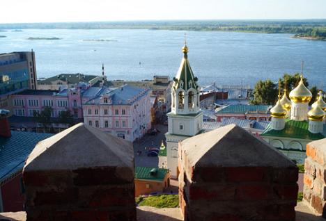 """Панорама Нижњег Новгорода. Извор: РИА """"Новости""""."""