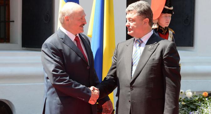 Aleksandar Lukašenko prisustvovao je inauguraciji Petra Porošenka u Kijevu. Izvor: Pres služba predsjednika Bjelorusije