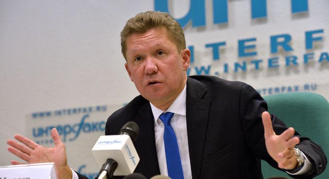 """Компанија """"Гаспром"""" је после тужби које су против ње поднете суду у Стокхолму већ ревидирала цене гаса. На слици: Алексеј Милер, први човек руског гасног гиганта. Извор: РИА """"Новости""""."""