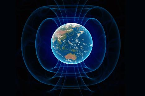 Илустрација магнетног поља Земље. Извор: GettyImages / Fotobank.