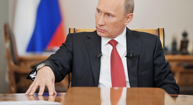 """Владимир Путин: [Са Бразилом] нас повезују традиционално пријатељски односи, узајамна наклоност и поверење. Извор: РИА """"Новости""""."""