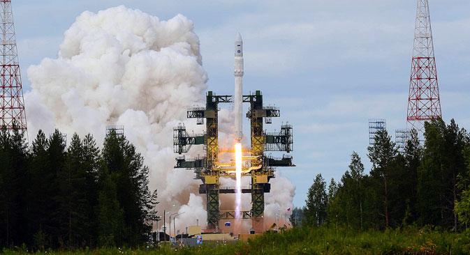 """Сада Русија може да лансира сателите свих типова у ниску и високу геостационарну орбиту без сагласности Казахстана, на чијој се територији налази космодром """"Бајконур"""". Извор: РИА """"Новости""""."""