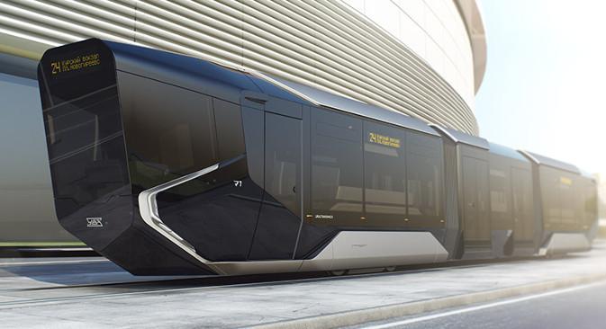 Конструктори кажу да је R1 први трамвај бизнис-класе на свету. Фотографија: Дарја Кезина.