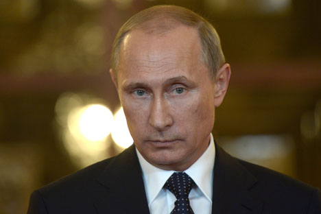 """Председник Русије Владимир Путин је 29. августа на омладинском форуму """"Селигер-2014"""" изјавио да """"сматра да је могуће и исправно да се део федералних, централних органа власти пребаци у Сибир"""". Извор: AFP/East News."""