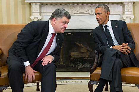 Порошенко у Вашингтону није добио ни велику економску, ни војну подршку. Извор: AP.