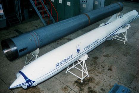 """Макета ракете """"Јахонт"""" у природној величини. Извор: ИТАР-ТАСС."""