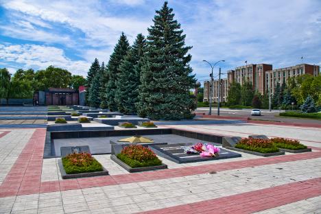 Меморијал Славе у Тираспољу, престоници Придњестровља. Фотографија из слободних извора.