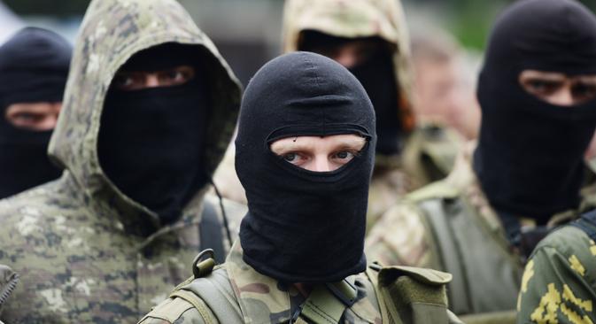 """Добровољци који су у Донбас дошли из удаљенијих земаља ризикују да буду кривично гоњени када се врате кући. Извор: РИА """"Новости""""."""