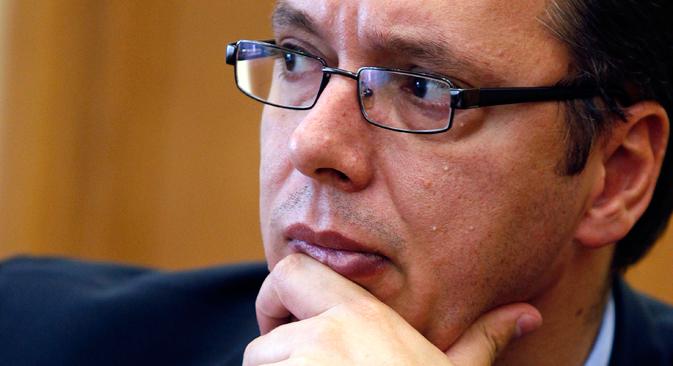 Александар Вучић:  Ја једно исто говорим и вама, и на Западу. Извор: Reuters.