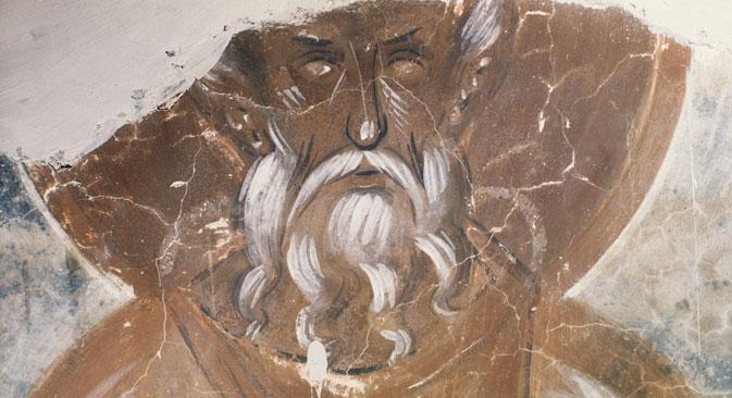 """Репродукција фреске """"Пророк"""" Теофана Грка (1378). Црква Преображења Господњег у Иљиној улици у Великом Новгороду. Извор: РИА """"Новости""""."""