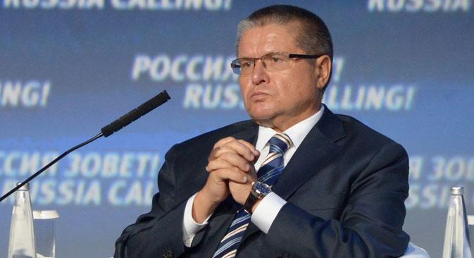 """Алексеј Уљукајев: У извештају Конференције УН о трговини и развоју Русија је наведена као најпривлачнија земља у транзицији за стране инвеститоре. Извор: РИА """"Новости""""."""