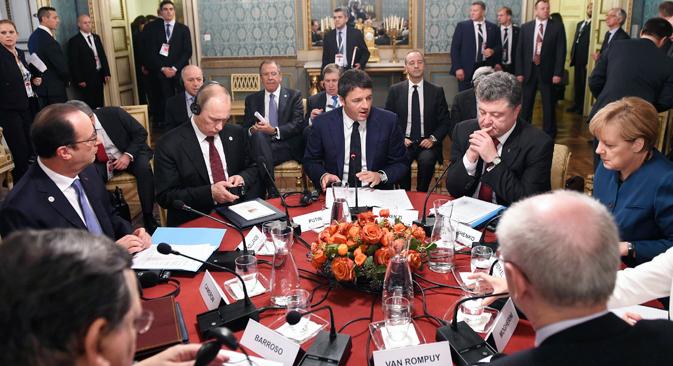 Једна од главних тема миланског самита била је криза у Украјини. Извор: Reuters.