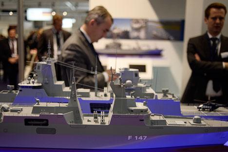 """Војно-поморски салон """"Euronaval-2014"""" био је скромнији него 2012. Извор: AFP/East News."""