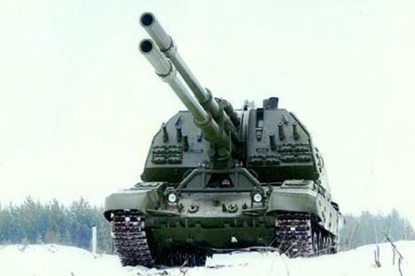 """Систем """"Коалиција-СВ"""" способан је да у режиму брзе ватре уништава објекте на земљи на удаљености до 70 km. Извор: mil.ru."""