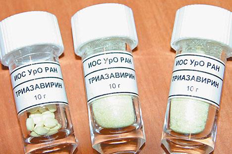 """До краја 2014. руске апотеке ће бити снабдевене антивирусним леком широког спектра деловања """"триазавирином"""". Извор: Press Photo."""