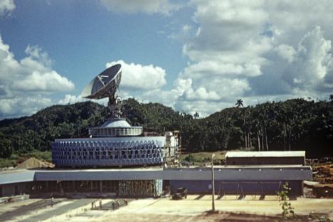 """Руско-кубански заједнички пројекти у космичкој сфери потичу још од 1960-их. На слици: станица """"Карибе"""" на Куби. Извор: Александар Моклецов / РИА """"Новости""""."""