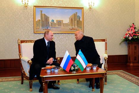 У разговору Владимира Путина и Ислама Каримова поменута је могућност да Русија у Евроазијској економској унији издејствује оснивање зоне слободне трговине са Узбекистаном. Извор: AP.