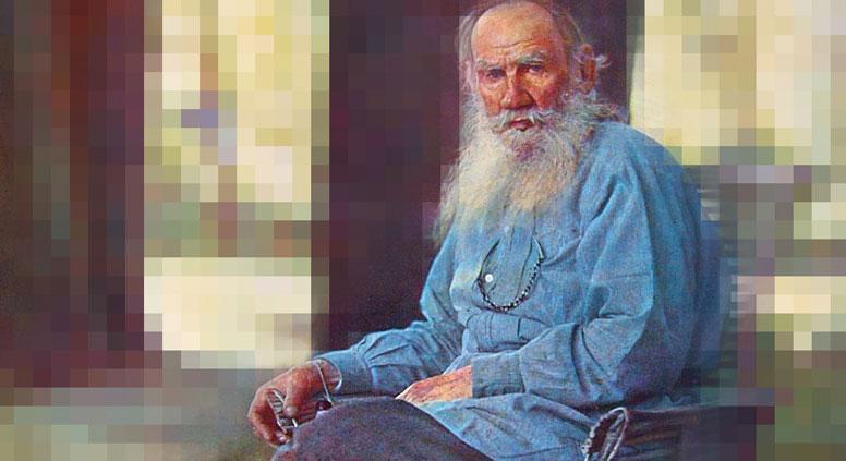 Толстој се за живота одрекао свих ауторских права. Илустрација на основу фотографије Сергеја Прокудина-Горског.