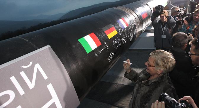 """Gazprom hat an Beteiligten des Projekts """"South Stream"""" eine Milliarde US-Dollar ausgezahlt.  Foto: Getty Images/Fotobank"""