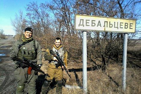 Србин Радомир Почуча (лево) који је ратовао у Донбасу против украјинских оружаних формација. Фотографија: facebook.com/para.bellum2