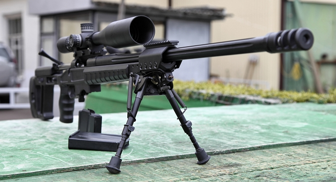 Russian Orsis T-5000 high-precision sniper rifles.