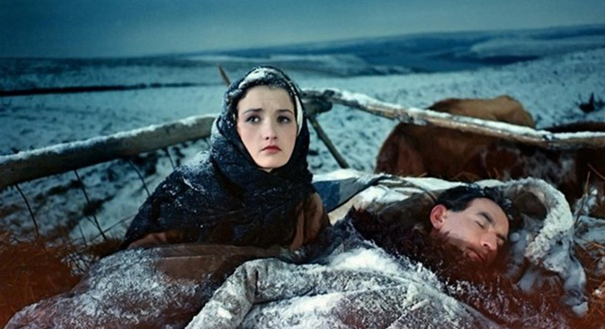 """Кадар из филма """"Тихи Дон"""" (""""Тихий Дон"""")."""