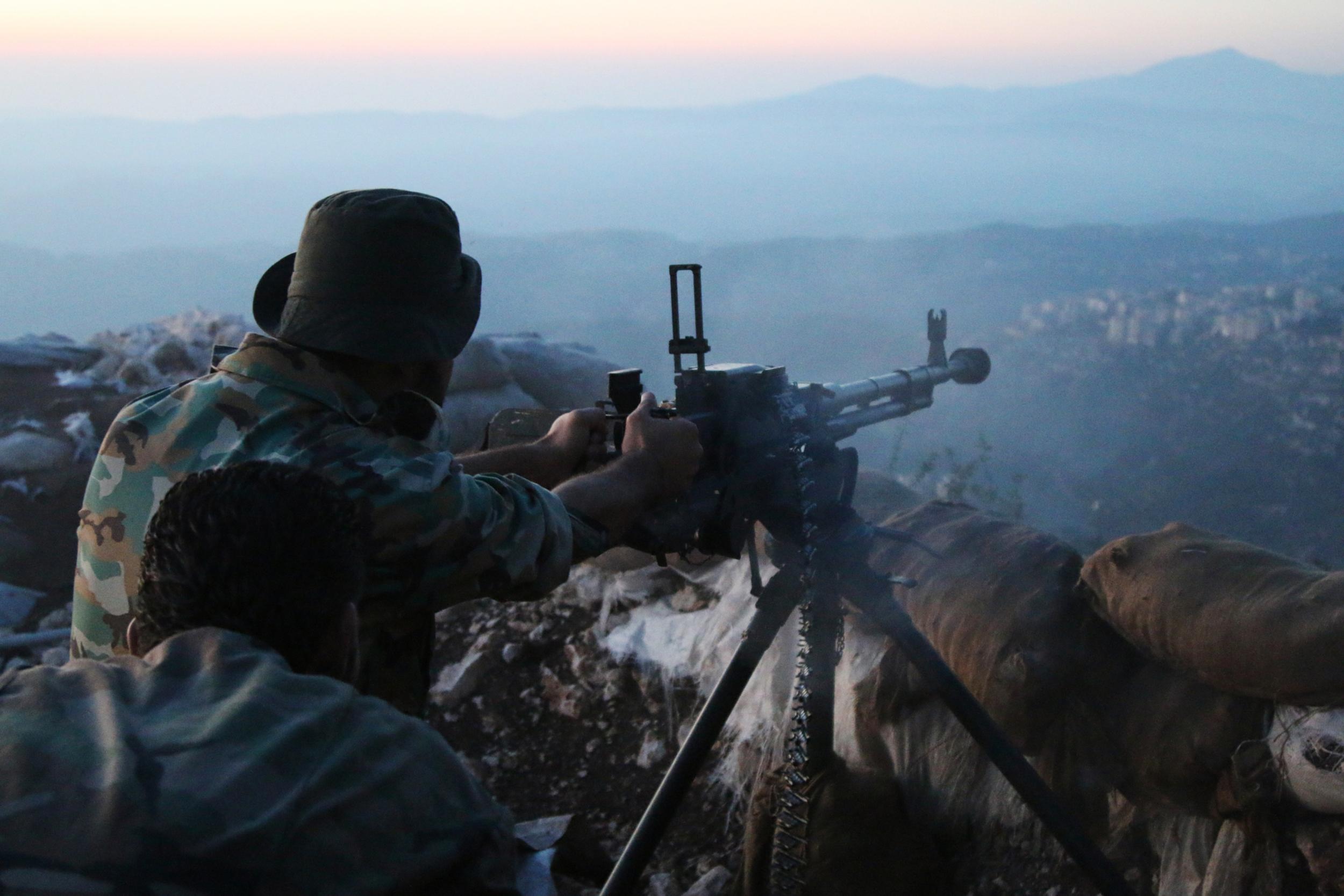 Pozicija sirijske vojske u provinciji Latakija.
