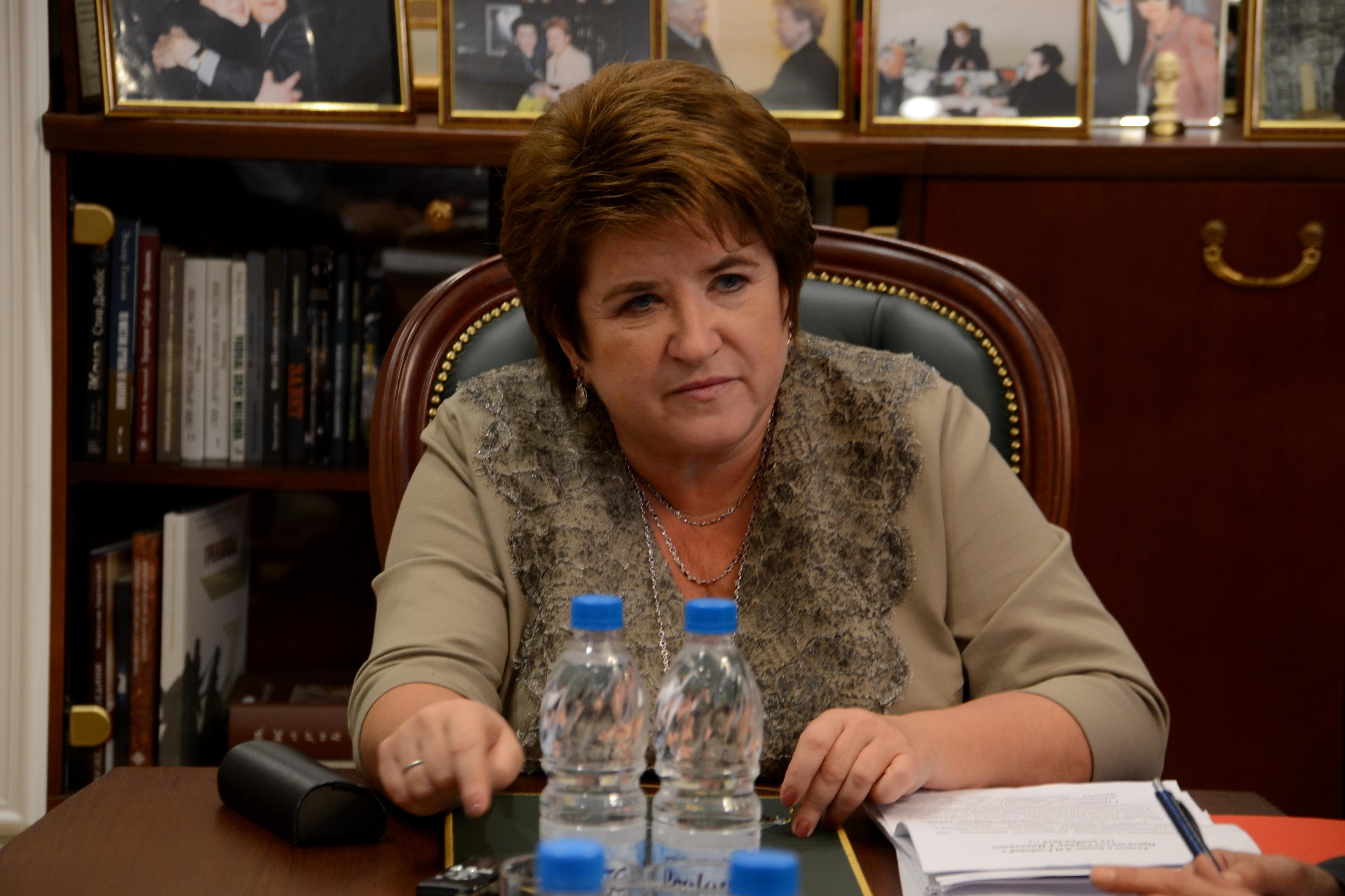 Direktorica zvezne agencije Rossotrudničestvo Ljubov Glebova. Vir: Alina Jabločkina.