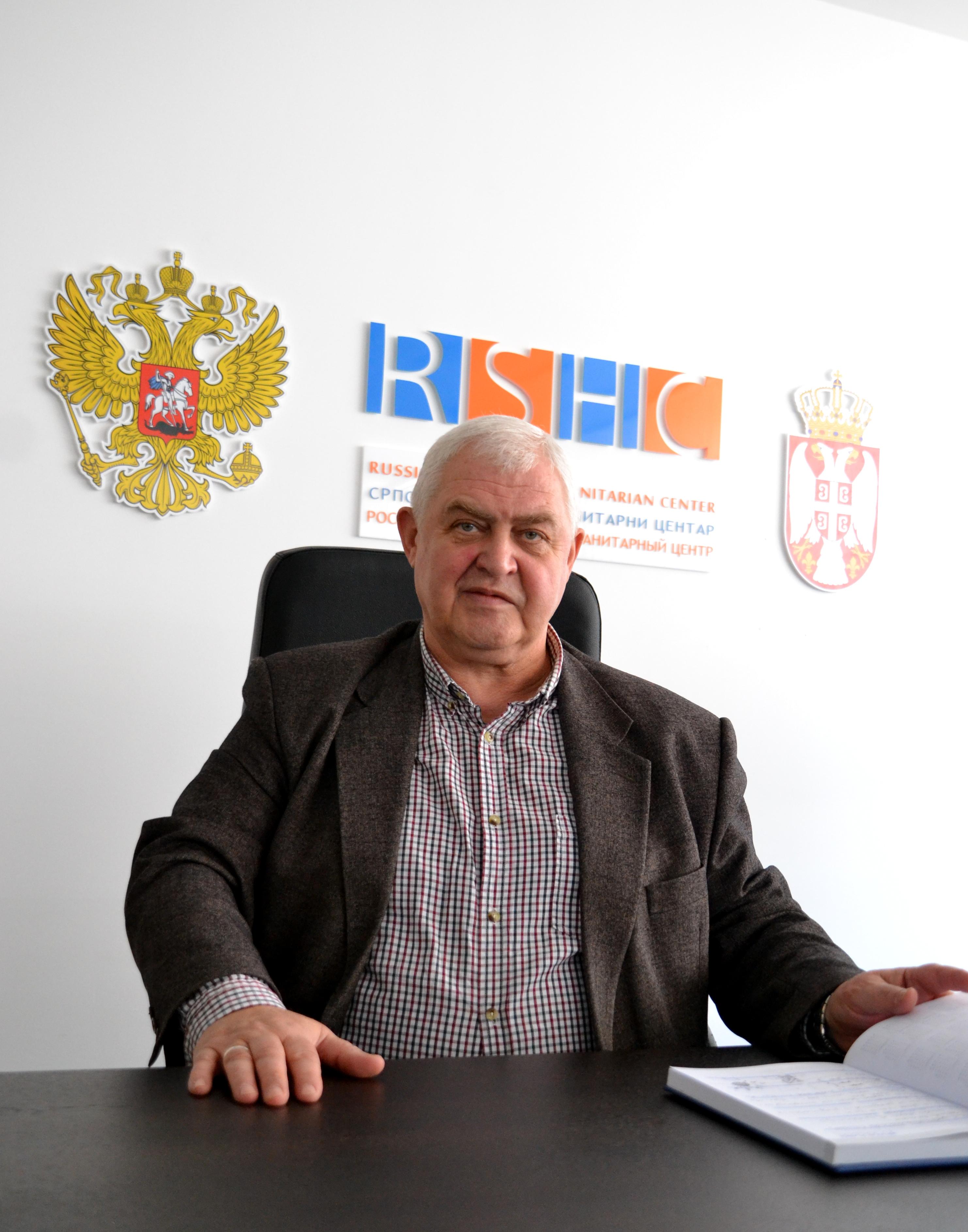 Вјачеслав Власенко, заменик директора Руско-српског хуманитараног центра (фотографија: Алина Јаблочкина)