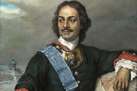 Петар I у униформи Преображенског пука. Пол Деларош, 1838.