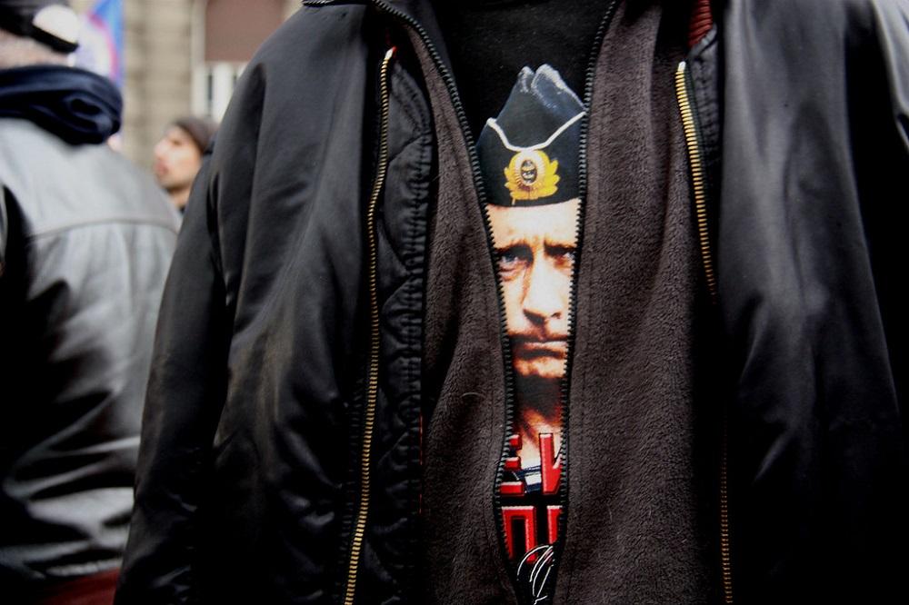 Са демонстрације против споразума са НАТО-ом у Београду 20. фебруара 2016. Извор: snopova.livejournal.com