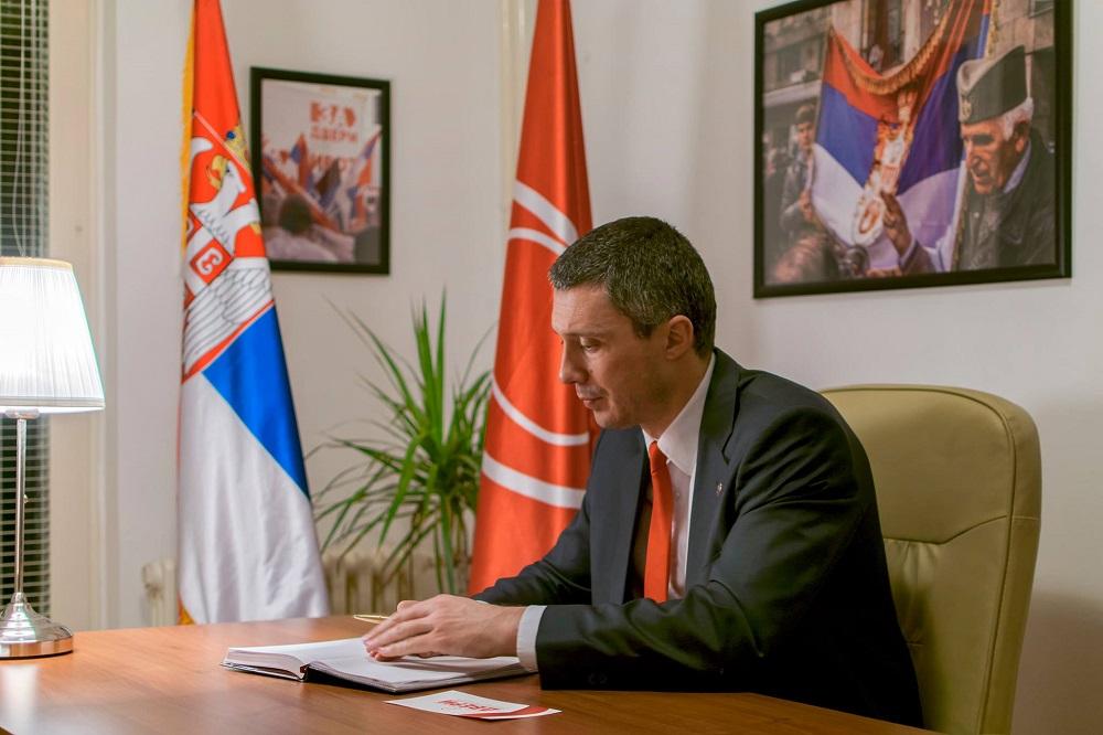 Бошко Обрадовић (прес служба Српског покрета Двери)