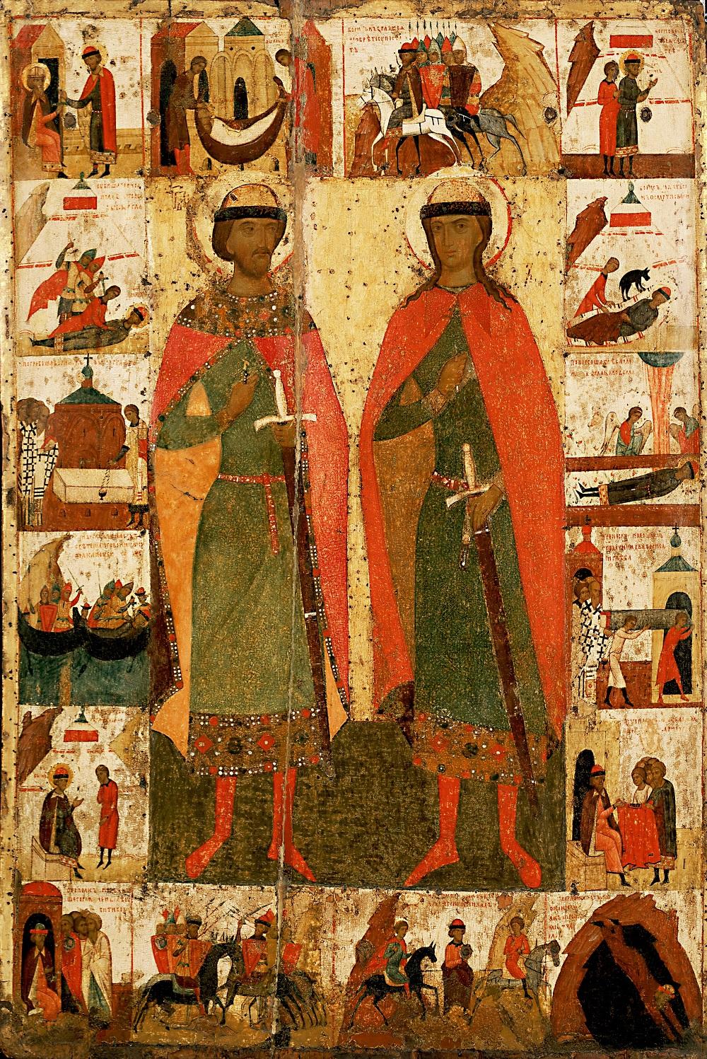 Борис и Глеб, друга половина XIV века