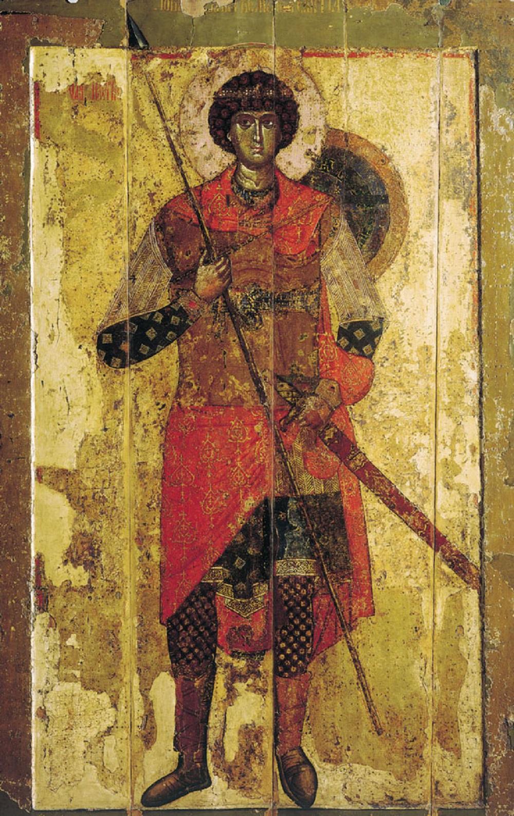 Свети Ђорђе, централна икона Јурјевог манастира у Новгороду, XI-XII век