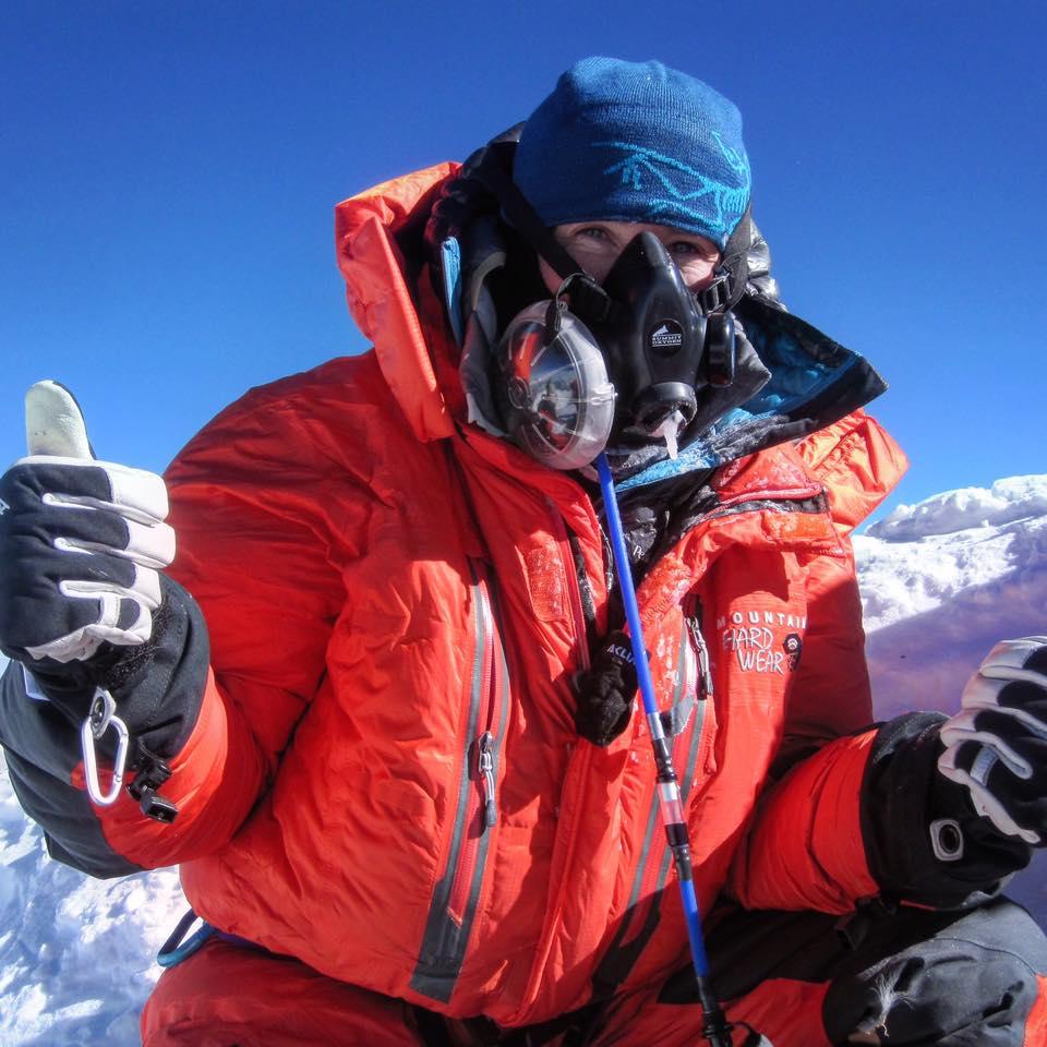Maria sur l'Everest. Source : Archives personnelles.