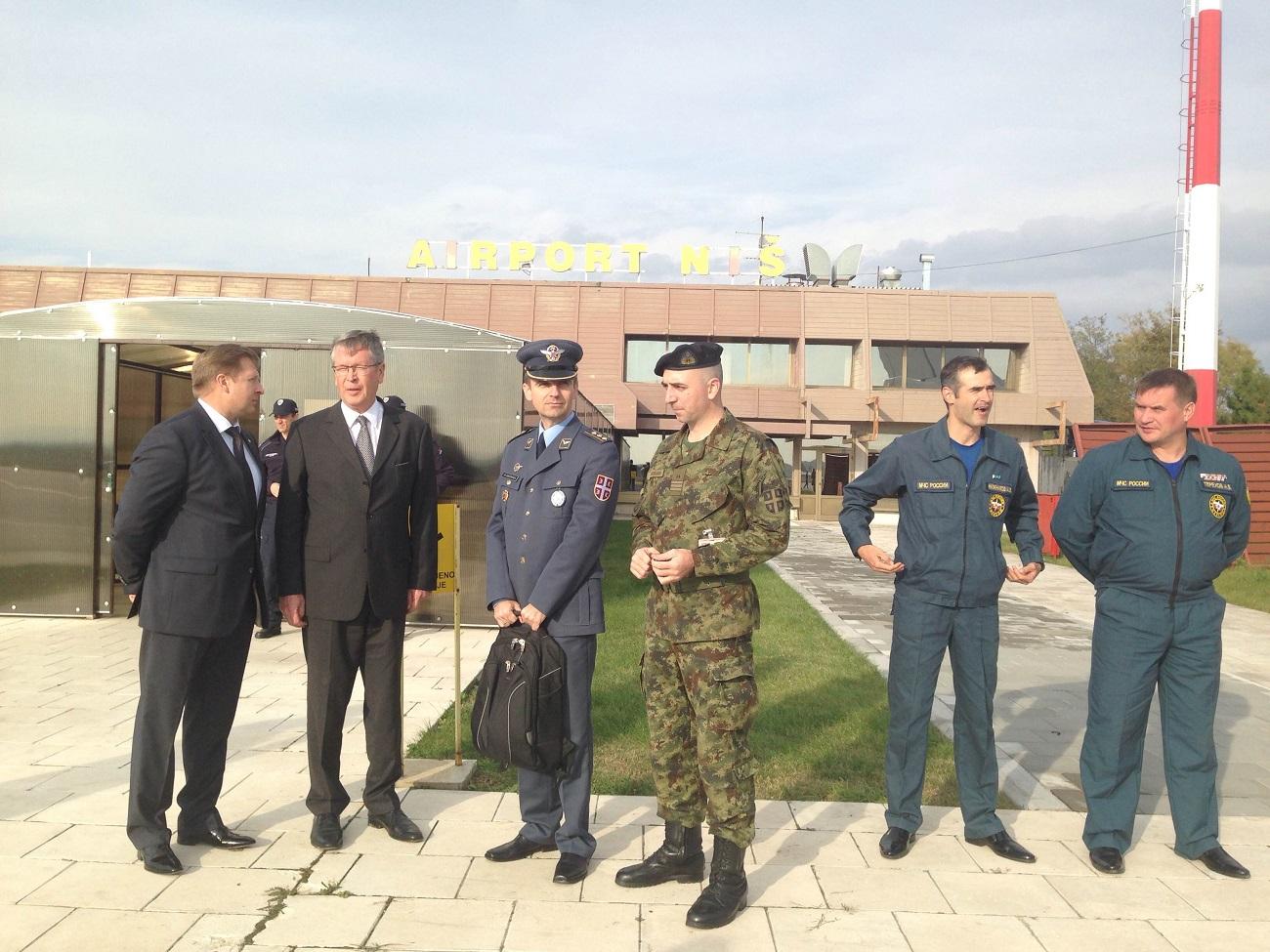 Министарство одбране Србије припремило је готово 50 тона терета. Логистику је обезбедило Министарство за ванредне ситуације Русије.