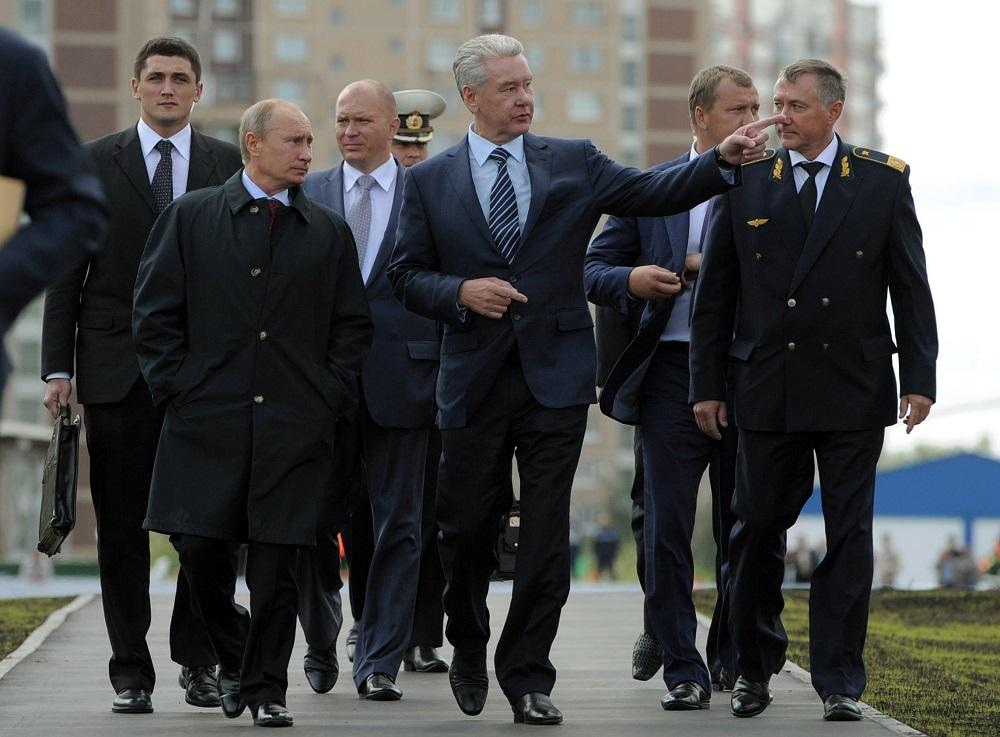 Владимир Путин и Сергеј Собјањин (Фото: AP)