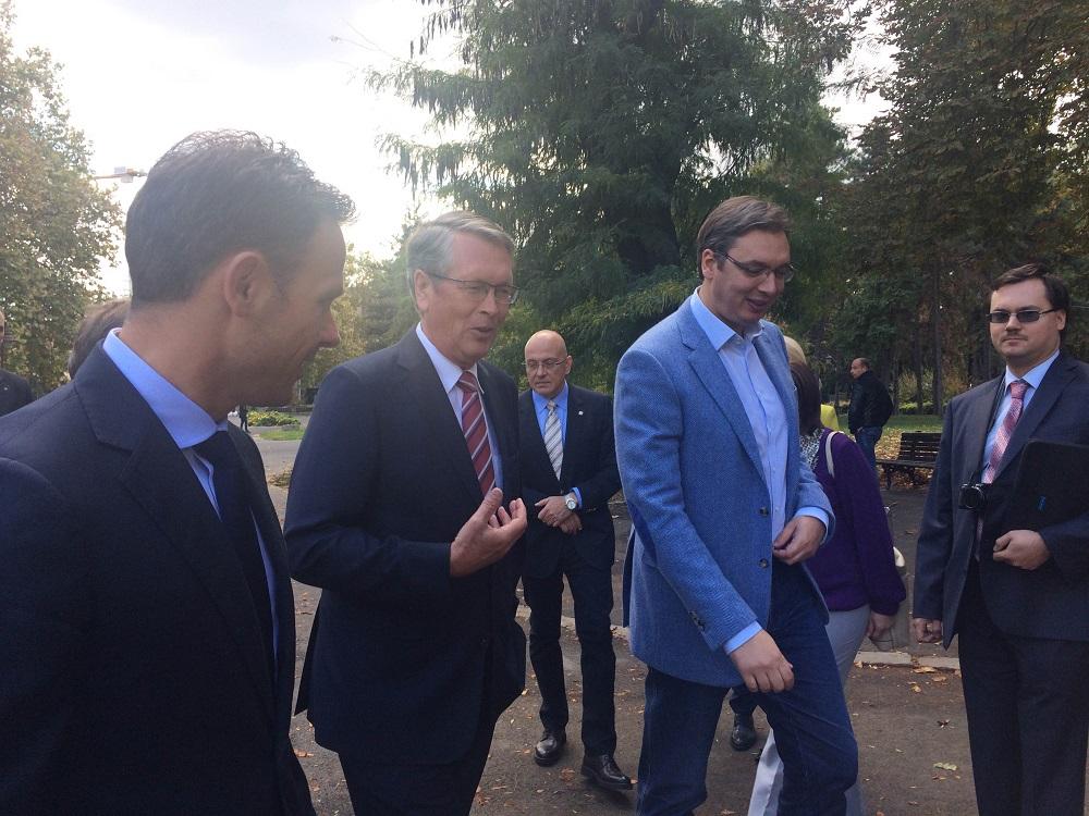 Синиша Мали, Александар Чепурин и Александар Вучић - Дани Москве у Београду