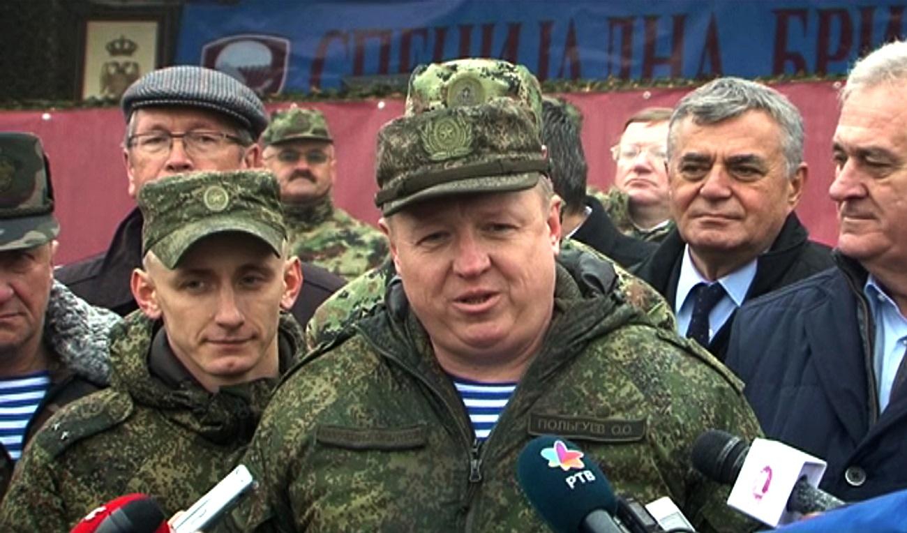 Олег Пољгујев. Прес-фото Министарства одбране Србије