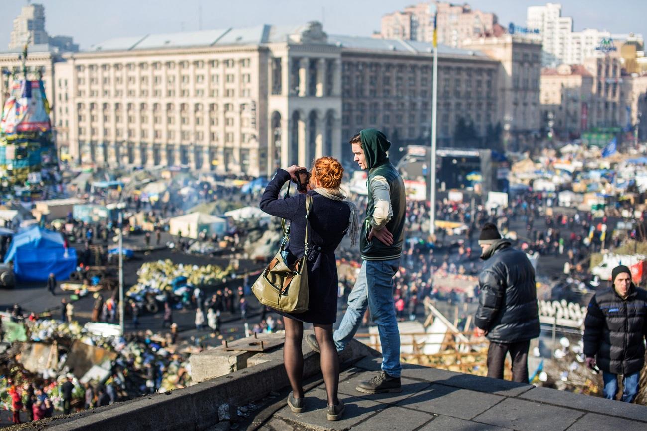 Трг Независности, Кијев, 2014. Илустрација: РИА Новости