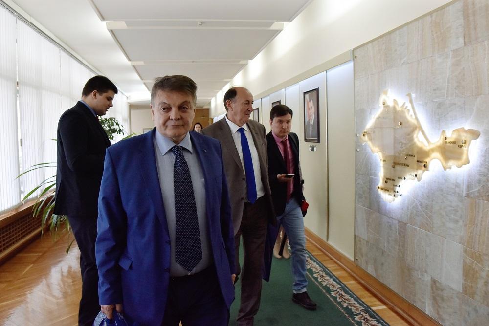 Милован Бојић у Државном савету Крима, Симферопољ, 20.март 2017.