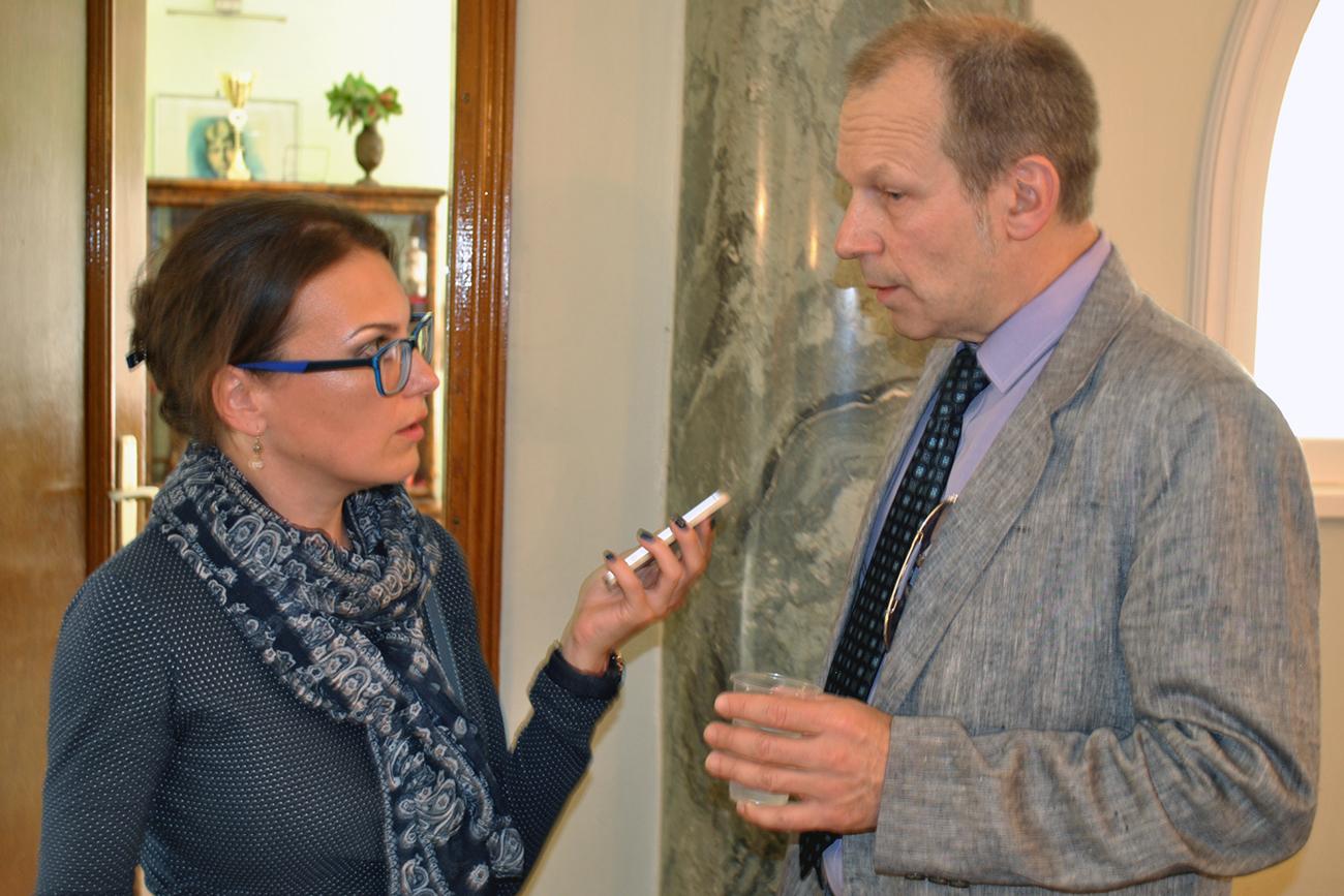 Катарина Лане и Дмитриј Петров.